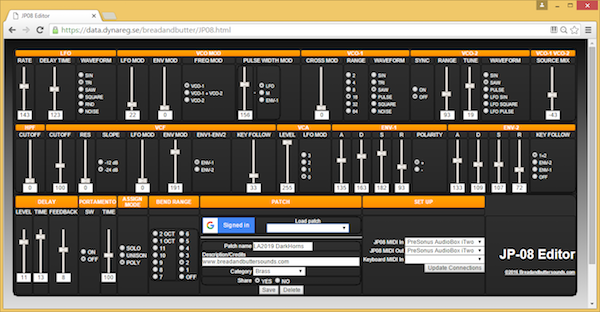 Roland Clan Forums • View topic - Online JP-08 Editor/Patch